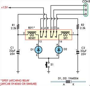 latching relay diagram momentary switch teamed with latching relay eeweb community