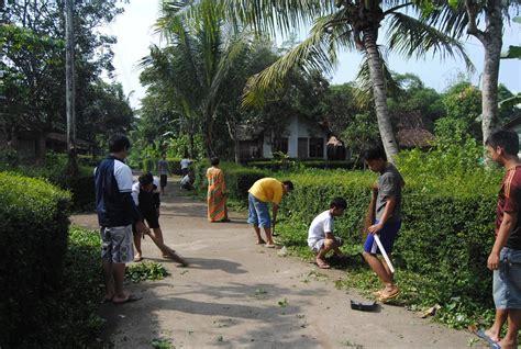 kegiatan kerja bakti rutin di desa dawung desa dawung