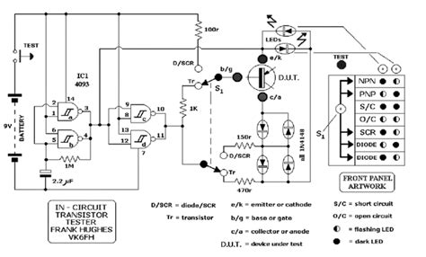transistor darlington test in circuit tester for scr diodes and transistors eeweb community