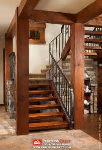 Log Home Stairs by Timber Frame Stairs Arizona Precisioncraft Timber Home