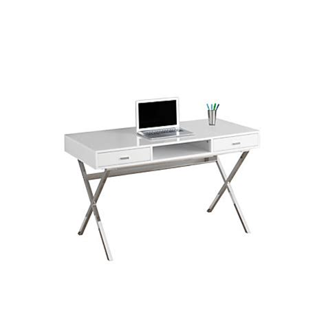 computer desk with legs monarch specialties contemporary mdf computer desk with criss cross legs 29 h x 48 w x 24 d