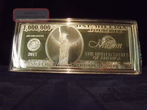 1 oz silver one dollar 2017 2017 4 troy ounce 999 silver one million dollar note