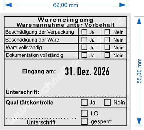 Musterbrief Zahlung Unter Vorbehalt 54110 Trodat Warenannahme Unter Vorbehalt Dokumentation Schnell Stempel