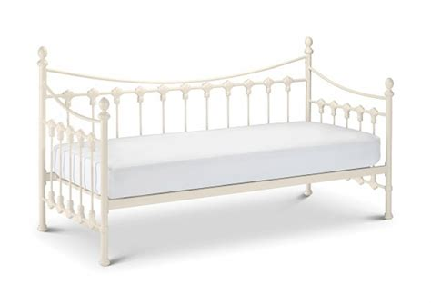Single Metal Bed Frame With Mattress Julian Bowen Versailles 3ft Single White Metal Day Bed By Julian Bowen