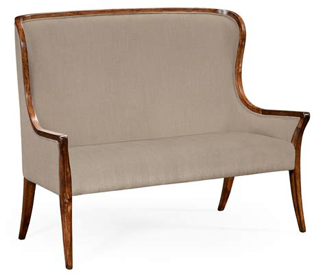 high backed settee high curved back settee upholstered in mazo