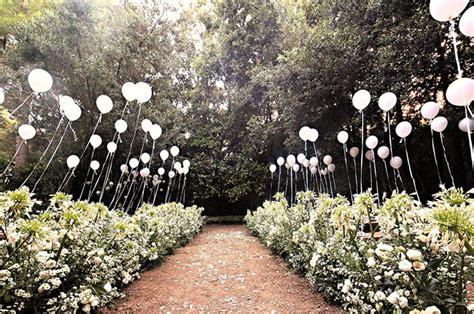 Wedding Aisle Balloons by Whimsical Bohemian Wedding Weekend Erica Louis