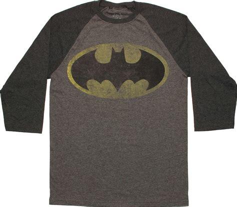 batman pattern t shirt batman vintage logo 3 4 raglan t shirt sheer