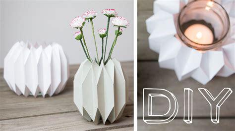 kerzenhalter vase diy geometrische vase windlicht im origamidesign