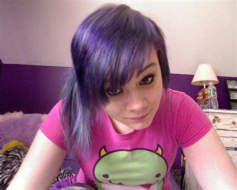 Sairah Syari Pink pink purple hair 2 on pink hair purple hair