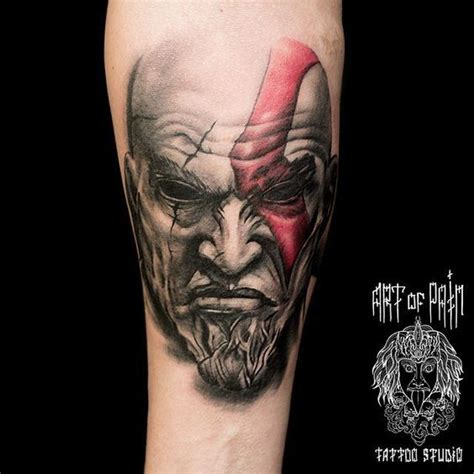 war tattoo kratos god of war realistic tattoos