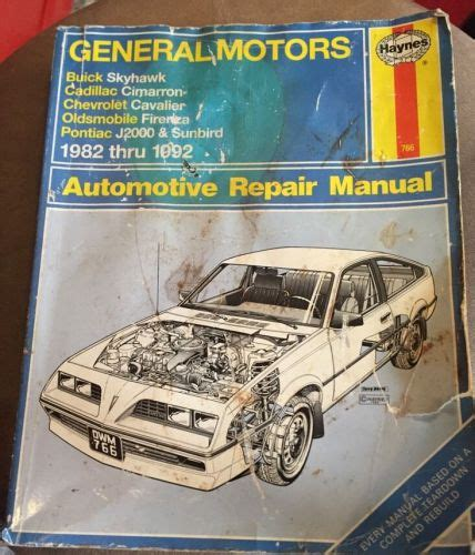 find general motors buick skyhawk other compacts 1982 thru 1992 haynes manual motorcycle in