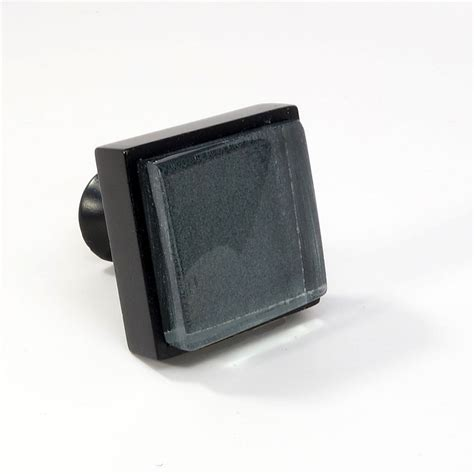 Square Glass Cabinet Knobs by Glass Black Metal Square Knob Modern Cabinet