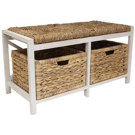 wicker bench seat with storage farmhouse style hallway bathroom wicker cushion bench seat