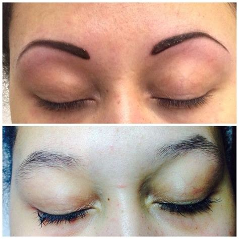 can eyebrow tattoo be removed feather eyebrow before and after tattoos eyebrow