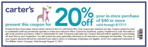 printable coupons for carters outlet coupons discounts and deals printable coupons 2014
