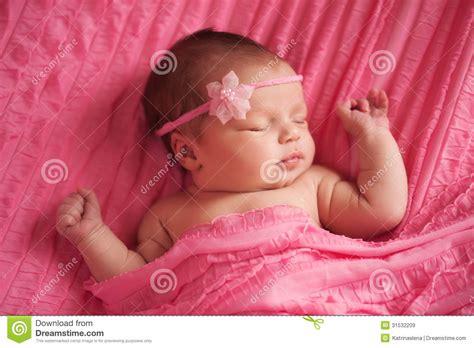 beautiful baby with flower headband stock image image portrait of a beautiful newborn baby royalty free