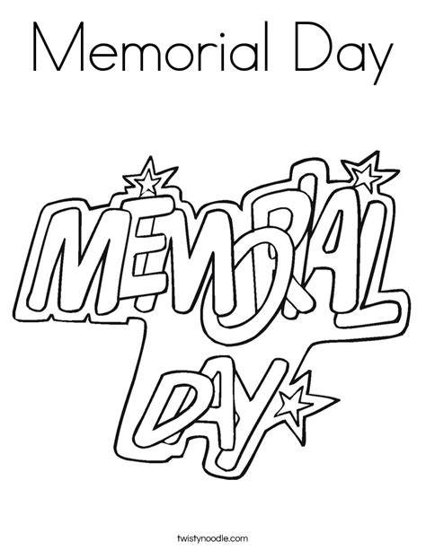 coloring pages for memorial day memorial day coloring page twisty noodle
