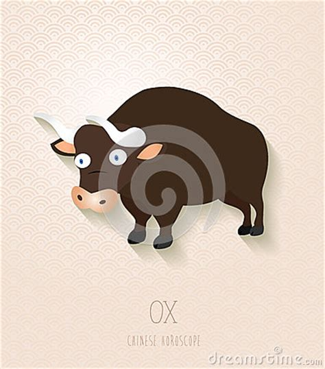 new year ox animal zodiac set year of the ox royalty free stock