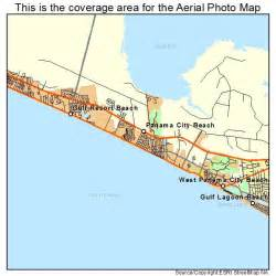 aerial photography map of panama city fl florida