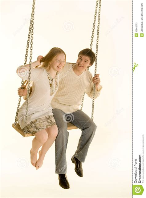 swinging old couples couple on a swing stock photography image 13862072