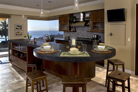 Kitchen Island Ideas With Table Cool Kitchen Island Table Decorating Ideas Images In