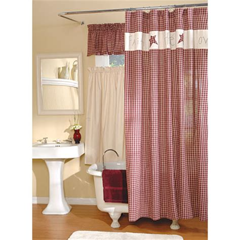 Country Shower Curtains Bj S Country Charm Primitive Shower Curtains Shower Curtains