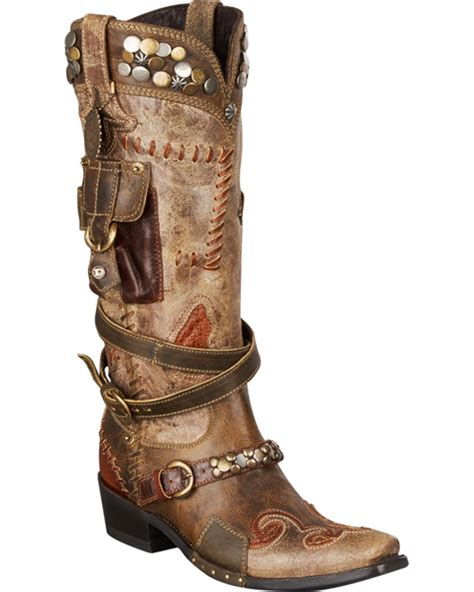 d ranch boots s for d ranch frontier trapper