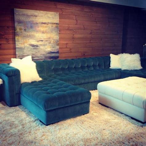 teal sectional couches chaise sectional in a teal velvet with tufting