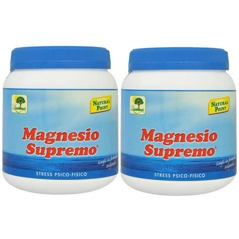 magnesio supremo point prezzo magnesio supremo point 2 x 300 gr antistress psico