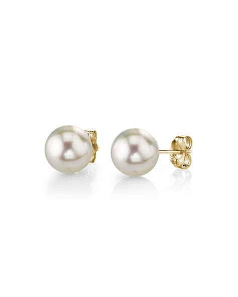 Pearl Earring 5 0 5 5mm white akoya pearl stud earrings