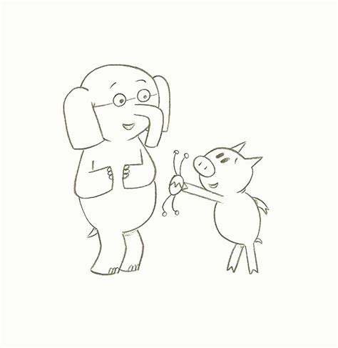 elephant piggie coloring page coloring home mo willems coloring pages elephant and piggie coloring home