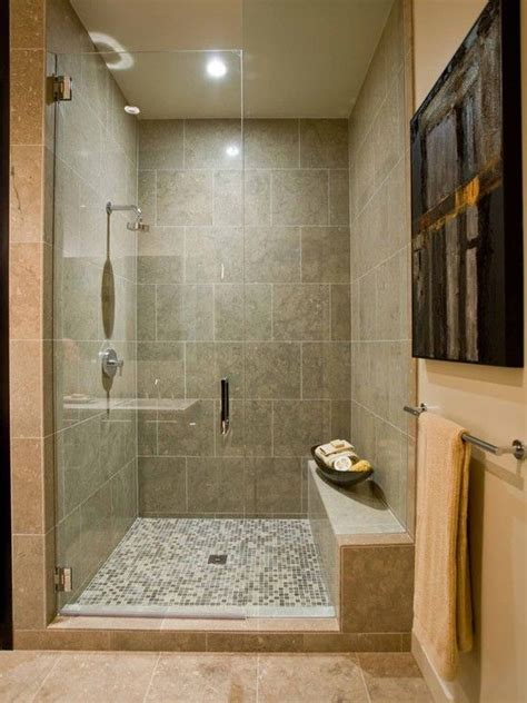 walk in bathroom shower designs bathroom shower bench design basement ideas pinterest