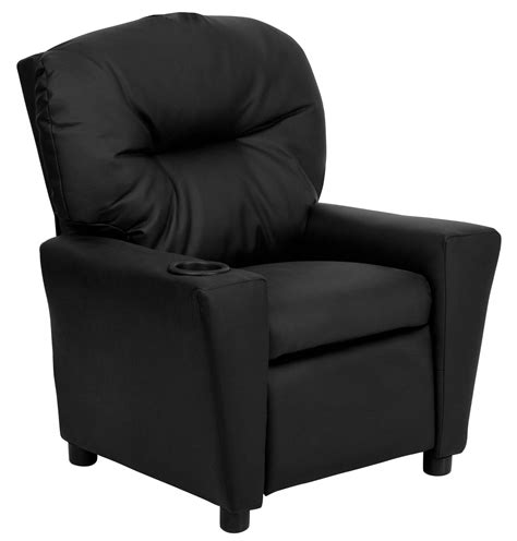 Childs Recliner With Cup Holder by Black Leather Recliner With Cup Holder From Renegade