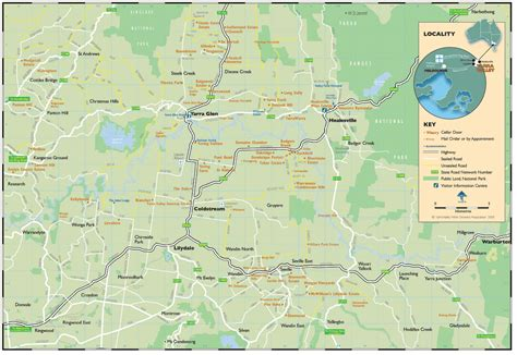 valley map yarra valley map