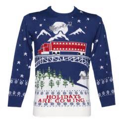 unisex holidays are coming christmas jumper from cheesy