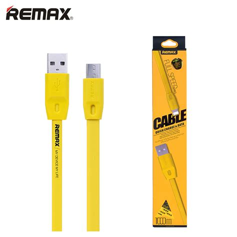 Remax Speed Micro Cable 1m Yellow remax v8 micro usb cable 3 28ft 6 56ft fast charge cable