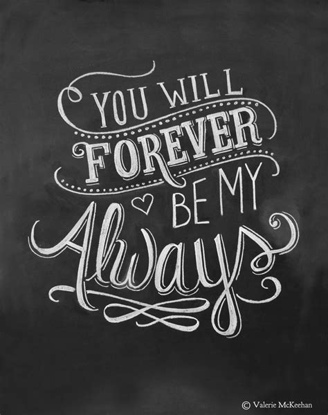 be my forever quotes for him for wedding print you will