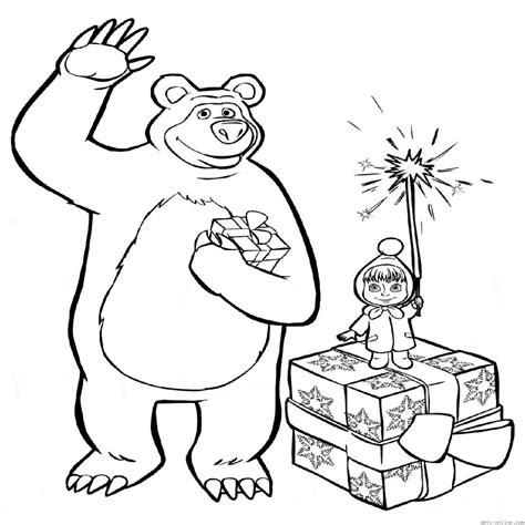 imagenes para colorear de ositos dibujos para colorear masha y el oso dibujos animados