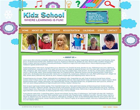 Pre School Website Template 235 Kids Preschool Template Playgroup Website Templates