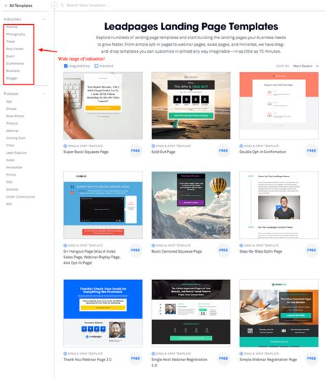 Leadpages Review Stop Wasting Your Site Traffic Use Leadpages 2018 Leadpages Landing Page Templates
