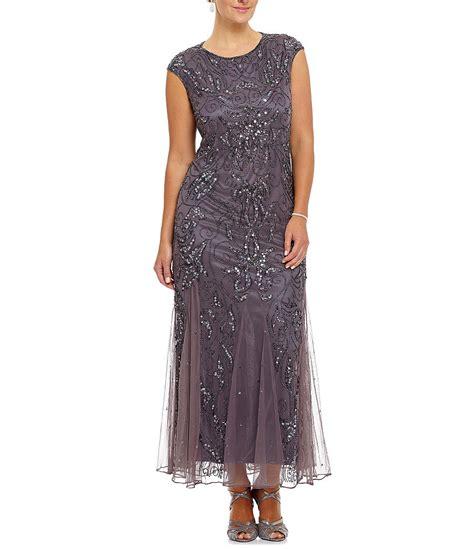 pisarro beaded dress pisarro nights plus beaded godet dress dillards