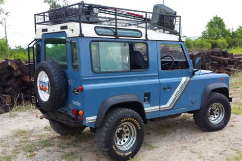 blue land rover big beef blue land rover defender 90 relic imports