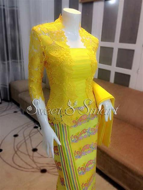 myanmar dress myanmar dress kebaya brokat and kebaya lace
