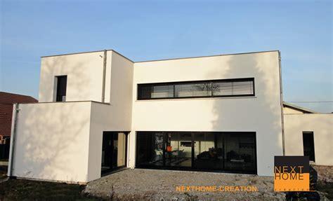 maison avec toit terrasse 2833 maison architecte toit plat garage accole nexthome cr 233 ation