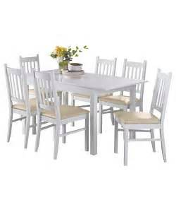 cucina off white dining table and 6 chairs review