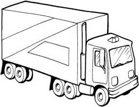 semi truck coloring page az coloring pages