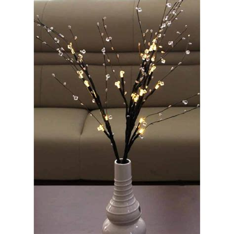 battery operated decorative lights decorative battery operated 24 light led bead branch wayfair