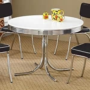 Amazon Com Coaster Retro Round Dining Kitchen Table In