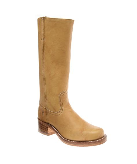 frye s cus 14l boots in brown lyst
