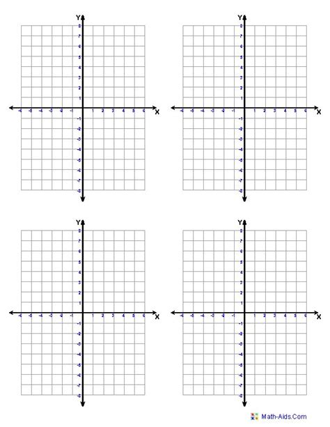 printable graph paper for math four quadrant graph paper projects to try pinterest
